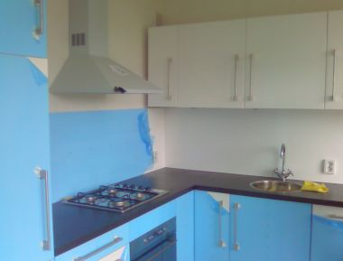 Achterwand hardboard voor gasfornuis - Rvs plaat voor keuken ...