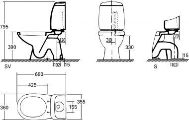 Afmeting Hangend Toilet.Ervaringen Sprongbocht Toilet Kleine Verplaatsing Afvoer
