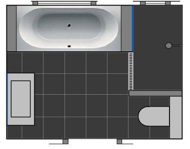 nieuwe muren badkamer