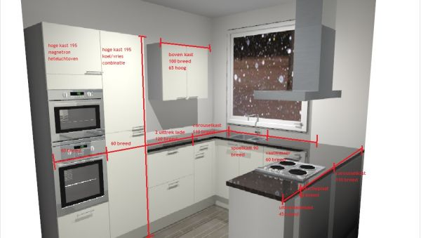 Nieuwe keuken muur exacte binnenmaat - Nieuwe ontwerpmuur ...