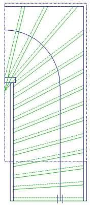 Zelf tekenen maken van een trap for Trap berekenen formule