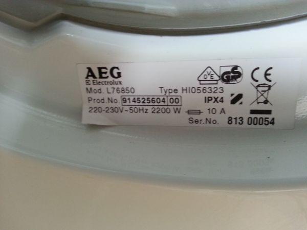 Extreem Foutcode e66 bij AEG wasmachine (Lavamat 76850) YP88