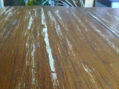 Oude tafel opknappen