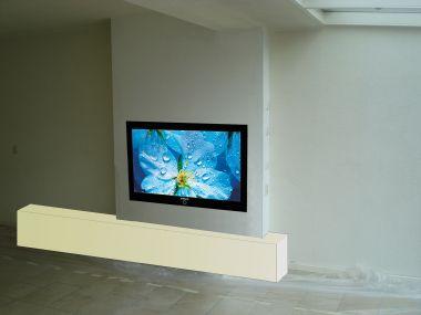 Tv In Muur : Hoe een tv in schouw gipsblokken inbouwen