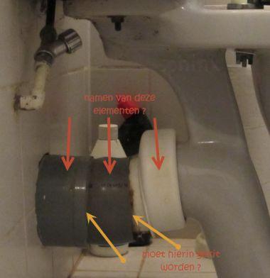 Sphinx duoblok aansluiting afvoer via de muur datum 1985 - Toilet aan de muur ...