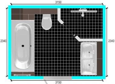 Ledslang/ledstrip in badkamer