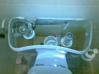 Binnenwerk Toilet Reservoir : Wc stortbak blijft door lopen