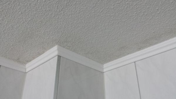 Kunststof Plafond Badkamer : Plafond in douche van max cm