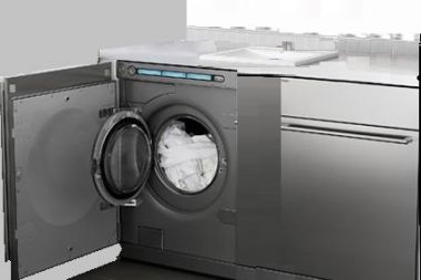 Wasmachine En Droger Naast Elkaar Wasbak Erboven