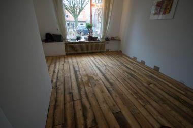 Massief Grenen Vloer : Leggen oude grenen vloerdelen