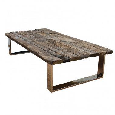 Tafel maken van treinbielzen for Zelf tafel maken hout