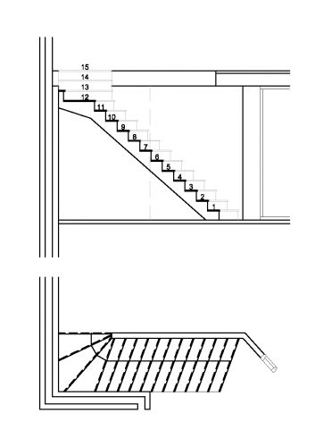 Zelf betonnen trap storten for Looplijn trap