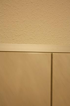 Top Aluminium strip boven tegels bevestigen QN77