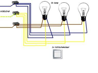 1 Schakelaar 3 Lampen Aansluiten Klusidee Nl
