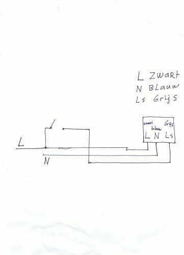 Aansluiting ventilator badkamer