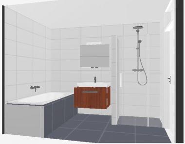 Klein badkamer ontwerp for Plan kleine badkamer
