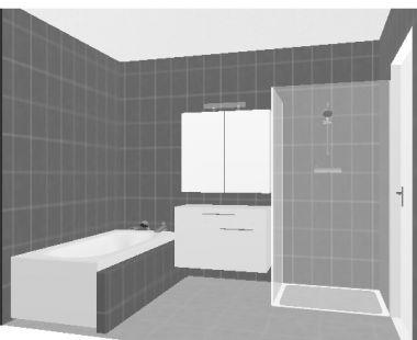 Klein badkamer ontwerp
