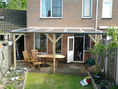Advies gevraagd voor fundering staanders terrasoverkapping - Hoe een overdekt terras te bouwen ...