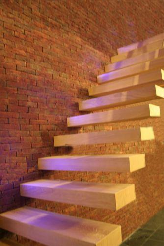 Zwevende trap for Trap eikenhout
