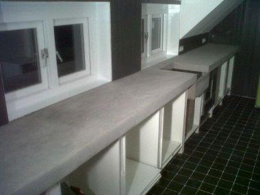 Bedwelming Aanrecht beton en de afwerking @VY23
