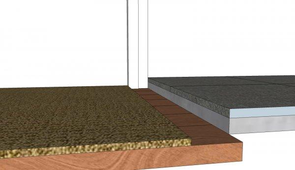 Hardstenen Dorpel Badkamer : Ophogen hardsteen dorpel badkamer