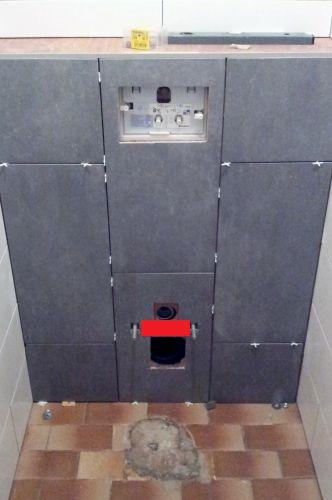 Afvoer zwevend toilet betegelen - Wc muur tegel ...