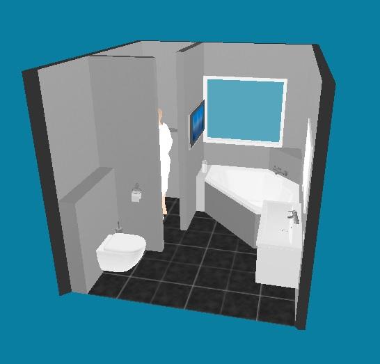 Idee voor indeling badkamer - Badkamer indeling ...