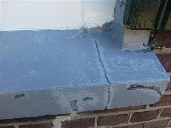Schilderen buitenvensterbank van cement - Eilandjes bad ...