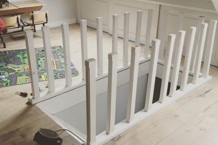 Welp Hoe een hout hekje (balustrade) maken voor zoldertrap? FH-85