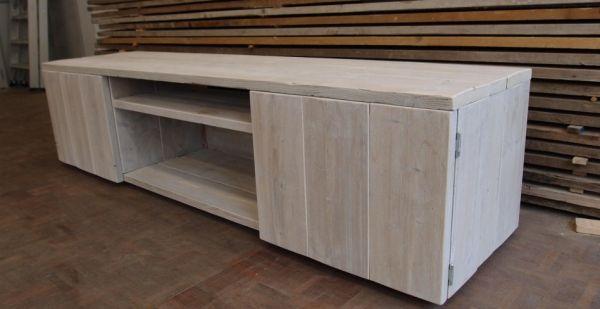 steigerhouten tv meubel On tv meubel steigerhout bouwtekening
