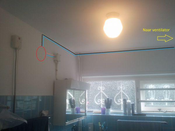 Waar Afzuiging Badkamer : Ventilator in badkamer waar ligt huidige elektra in de muu
