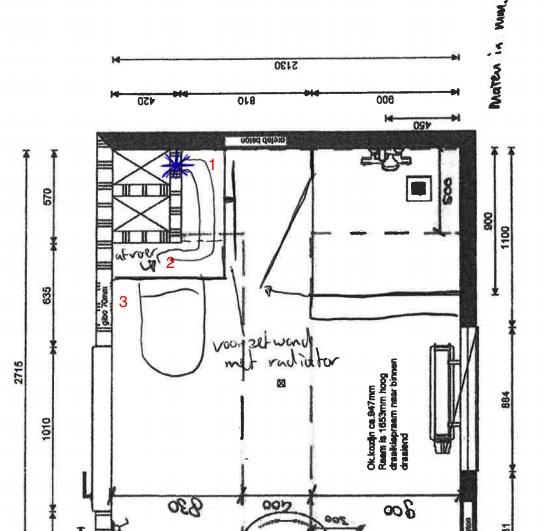 Afvoer toilet in badkamer verplaatsen, kan dat?!