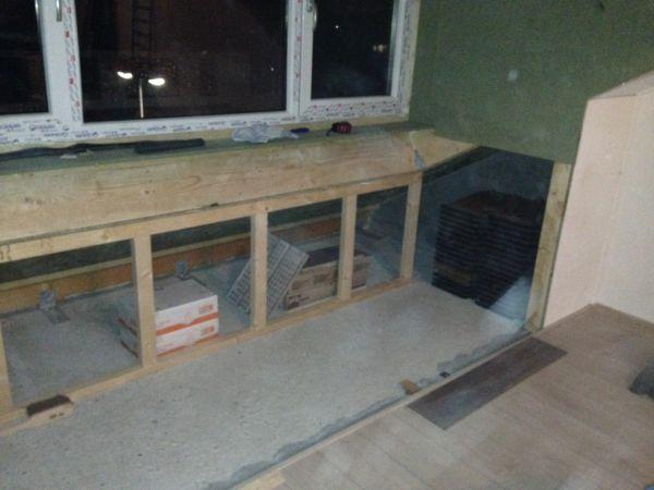 Zolder betonnen vloer gedeeltelijk ophogen