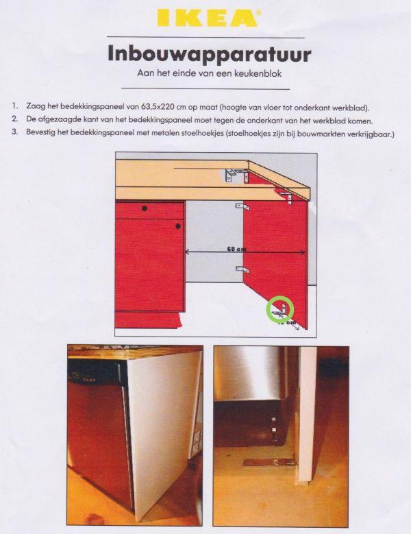 Montage Bedekkingspaneel Keukenblok Icm Vloerverwarming