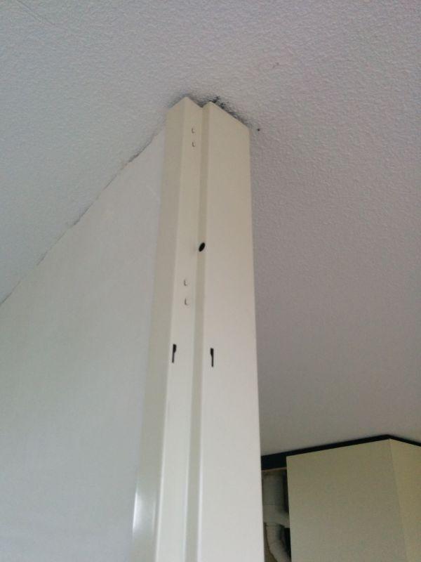 Super Ontbrekende bovenlicht en glaslatten van stalen deurkozijn. CI28