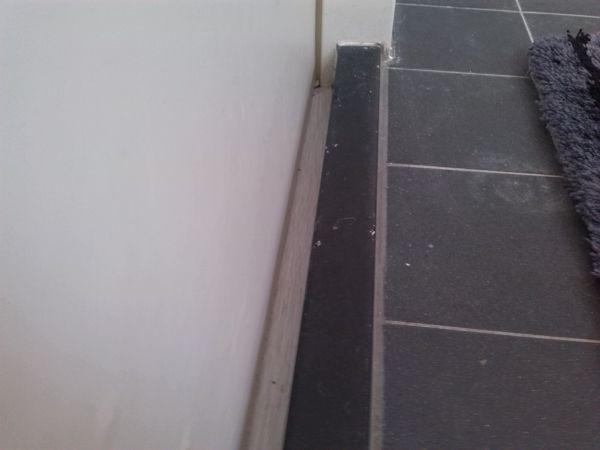 kier/ruimte tussen de dorpel en de deur van de badkamer, Badkamer