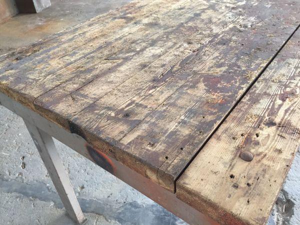 Houten Tafel Opknappen : Werktafel opknappen tot eettafel