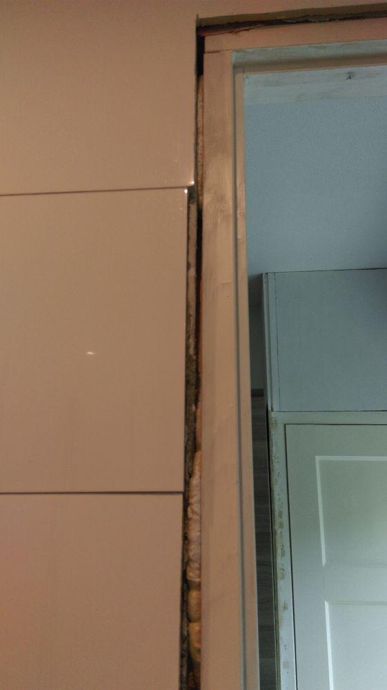 Afwerking badkamer kozijn