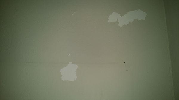 Verf Laat Los Van Plafond Verflaag Laat Los Op Gespackte ...