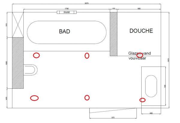 Spot (led) verlichting badkamer & locatie?