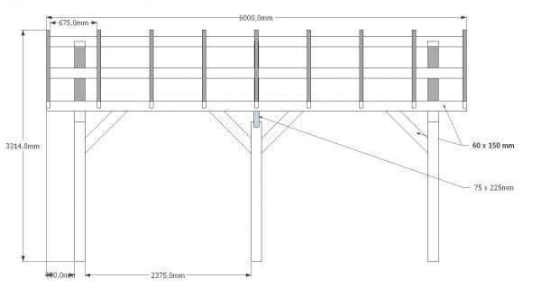 Dubbele carport met sketchup