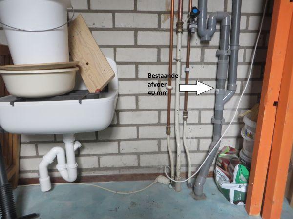 Afvoer Badkamer Diameter : Nieuwe afvoer op afvoer wasmachine