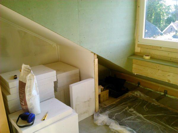 Super Wandopbouw zolder bij dakkapel NE15