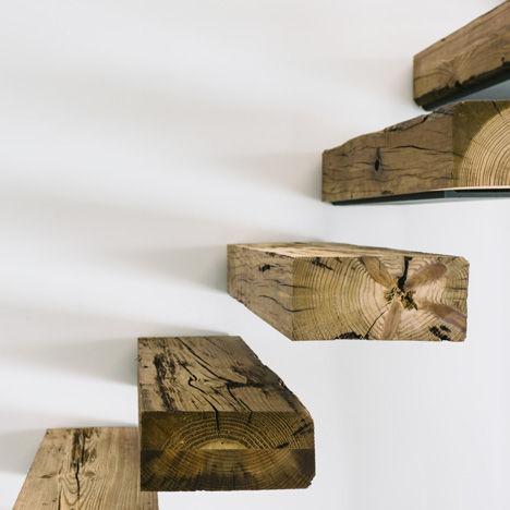 Zwevende buitentrap maken for Trap buiten hout
