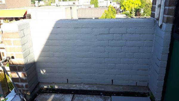 Stenen Muur Verven : Bakstenen muur verven buiten