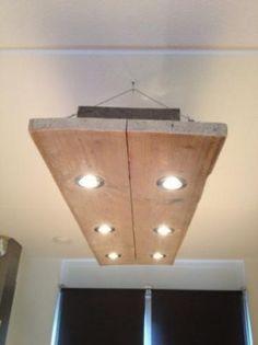 Inbouwspotjes in hangende balk ip normering for Wandlamp boven eettafel