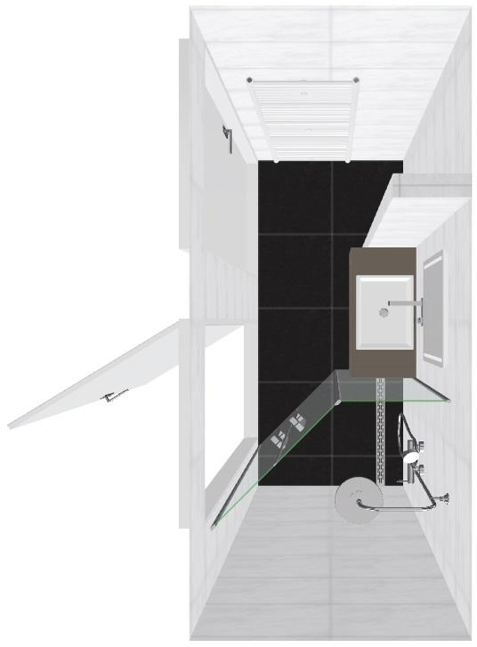 Badkamer indeling - Badkamer lengte plan ...