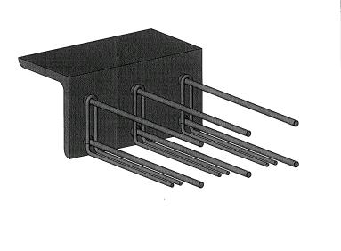 Trapsparing in beton for Vaste trap ipv vlizotrap