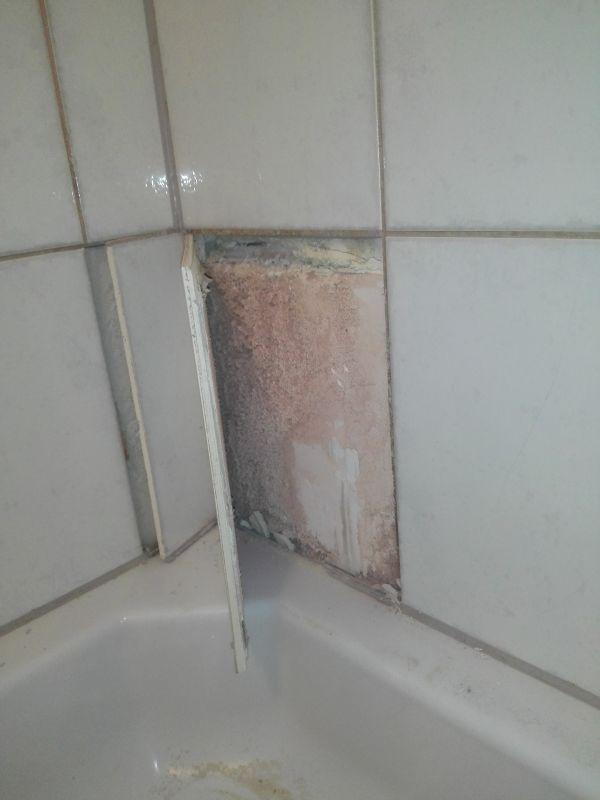 Muur beschadigd door vocht