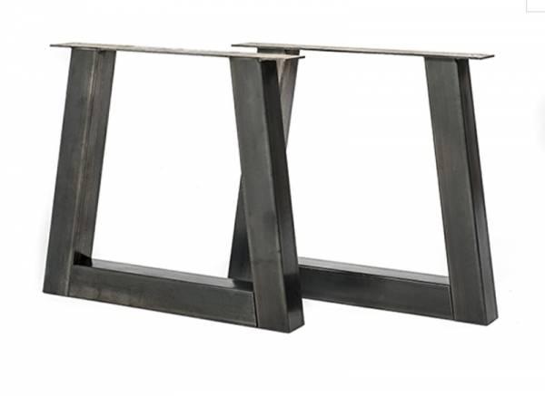 Tafel Onderstel Maken : Eettafel met stalen onderstel en massief hout maken